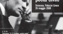 """Convegno """"P.P. Pasolini, poeta civile"""" - Palazzo Greco di Siracusa"""