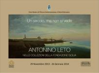 """""""Un secolo, ma non si vede. Antonino Leto nelle collezioni della Fondazione Sicilia"""" giunge a Marsala"""