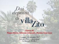 DAI DEPOSITI DI VILLA ZITO.  Opere di Pippo Rizzo, Alfonso Amorelli, Manlio Giarrizzo