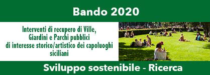 Bando 2020 - Interventi di recupero di Ville,  Giardini e Parchi pubblici di interesse storico/artistico dei capoluoghi siciliani