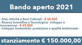 BANDO APERTO PER LA CONCESSIONE DI CONTRIBUTI 2021